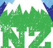 NZ New Zealand mountains distressed version Sticker