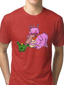 Pokemon: Likitung and Cacnea Tri-blend T-Shirt