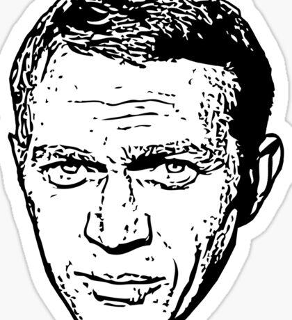 Steve McQueen - The King of Cool Sticker