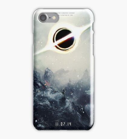 Black Hole Fictional Teaser Movie Poster Design iPhone Case/Skin