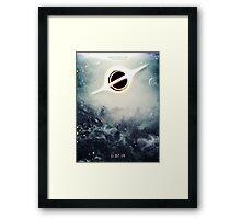 Black Hole Fictional Teaser Movie Poster Design Framed Print