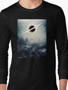 Black Hole Fictional Teaser Movie Poster Design Long Sleeve T-Shirt