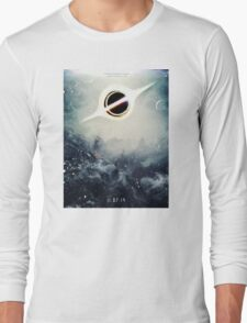 Black Hole Fictional Teaser Movie Poster Design Long Sleeve T-Shirt