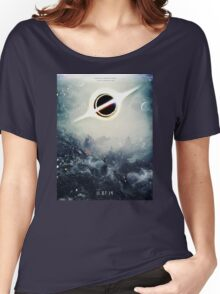 Black Hole Fictional Teaser Movie Poster Design Women's Relaxed Fit T-Shirt