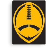 Gold Vector Football Canvas Print