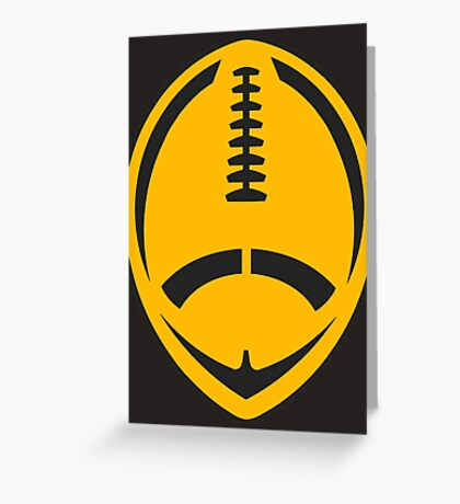 Gold Vector Football Greeting Card