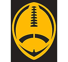 Gold Vector Football Photographic Print