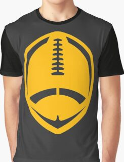 Gold Vector Football Graphic T-Shirt