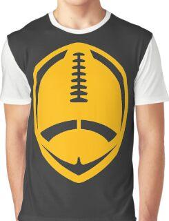 Gold Vector Football Graphic T-Shirt
