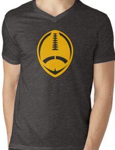Gold Vector Football Mens V-Neck T-Shirt