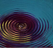 Water Ripple in Teal by Judy Vincent