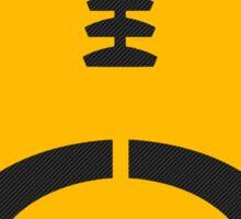 Gold Vector Football Sticker