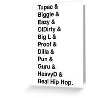 Best rappers Greeting Card