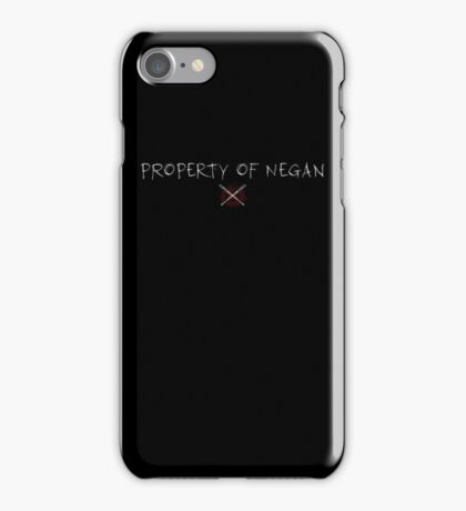 The Walking Dead - Property Of Negan - Scratch iPhone Case/Skin