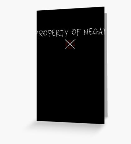 The Walking Dead - Property Of Negan - Scratch Greeting Card