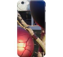 Garden Christmas Decorations – Blue and Red Globe iPhone Case/Skin