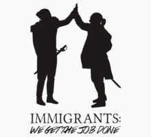 Immigrants: We Get The Job Done - Hamilton Musical (black version) Kids Clothes