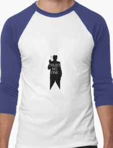 ♥♥♥ TRUST NO ONE X FILES ♥♥♥ Men's Baseball ¾ T-Shirt