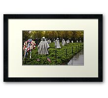 Korean War Veterans Memorial  Framed Print