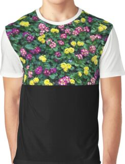 Flower Bed, California, Floral Pattern Graphic T-Shirt