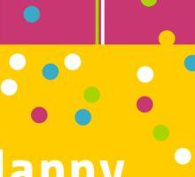 Colorful Birthday Balloons Sticker