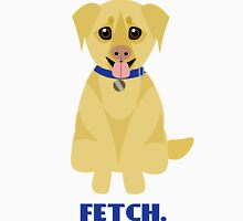 """Fetch"" Yellow Labrador Retriever Dog Unisex T-Shirt"
