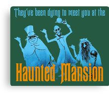 Haunted Mansion Attraction Poster Canvas Print