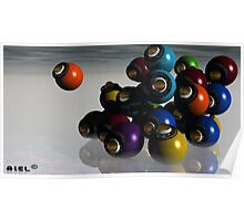 Balls and eyes everywhere Poster