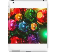 Colourful Christmas Decoration Cluster  iPad Case/Skin