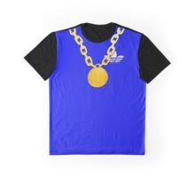Old Skool Bling Chain - Blue Graphic T-Shirt