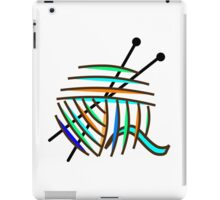 Knitting Needles and Colorful Yarn iPad Case/Skin