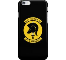 """561st Fighter Squadron """"Wild Weasels"""" iPhone Case/Skin"""