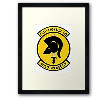 """561st Fighter Squadron """"Wild Weasels"""" Framed Print"""