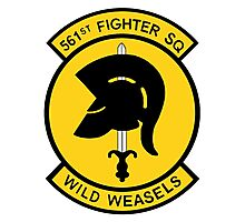 """561st Fighter Squadron """"Wild Weasels"""" Photographic Print"""