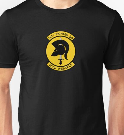 """561st Fighter Squadron """"Wild Weasels"""" Unisex T-Shirt"""