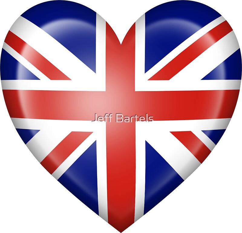 Quot Union Jack British Heart Flag Quot Stickers By Jeff Bartels