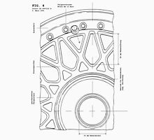 Split Wheel Patent Drawing T-Shirt