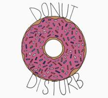 Donut Disturb - White One Piece - Short Sleeve