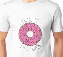Donut Disturb - White Unisex T-Shirt