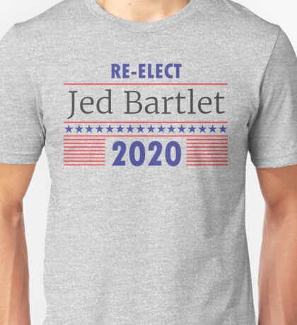 Re-Elect Jed Bartlet 2020 Stars and Stripes Unisex T-Shirt