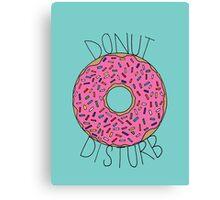 Donut Disturb Canvas Print