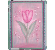 FOR YOU ! - A DREAMING PINK TULIP with little Hearts iPad Case/Skin