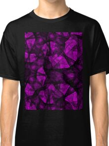 Fractal art black and pink Classic T-Shirt