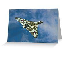 Avro Vulcan B.2 XH558 G-VLCN Greeting Card