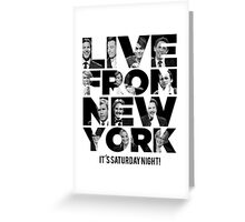 Live From New York, It's Saturday Night - Saturday Night Live Greeting Card