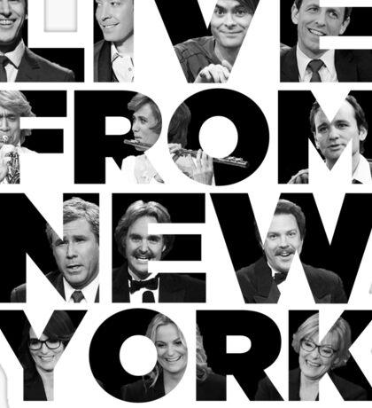 Live From New York, It's Saturday Night - Saturday Night Live Sticker