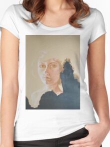 Burnt Paper  Women's Fitted Scoop T-Shirt
