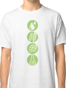 BEER: Water, Barley, Hops & Yeast Classic T-Shirt