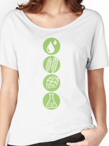 BEER: Water, Barley, Hops & Yeast Women's Relaxed Fit T-Shirt