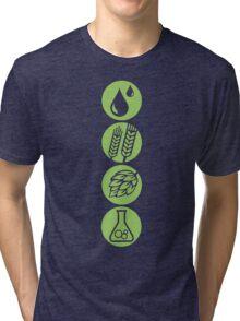 BEER: Water, Barley, Hops & Yeast Tri-blend T-Shirt